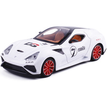 High quality high simulation 1:32 alloy pull back car,Italian luxury sports car road cool Racing toy(China)