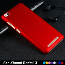 "For Xiaomi Redmi 3 Case 5.0"" Luxury Plastic Hard Cell Phone Case For Xiaomi Redmi 3 Redmi3 Hongmi 3 Case Shell Back Cover"