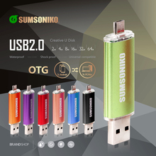 SUMSONIKO Phone USB Flash Drive OTG Mobile Pen Drive High Speed Gift Flash Disk USB 2.0 64GB 32GB 16GB 8GB 4GB(China)