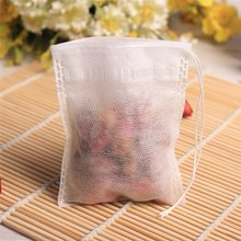 Tea Infusers Filters 100Pcs/lot 6*8cm Corn Fiber Tea Bags Biodegraded Quadrangle Pyramid Heat Sealing Filter Bags Drinkware
