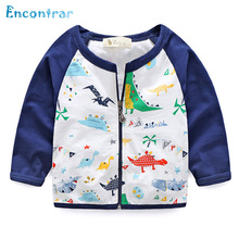 Encontrar Boy's Autumn Cartoon Jacket Cotton Dinosaur Printing Outerwear for Kids Children Casual Spring Coat Girls 18M-8T,DC104