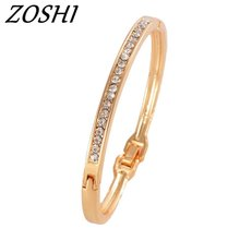 ZOHI Free shipping Fashion Bracelets For Women's/Girl's Wholesale Clear Austrian Crystal Bracelets & Bangles Gift Jewelry(China)