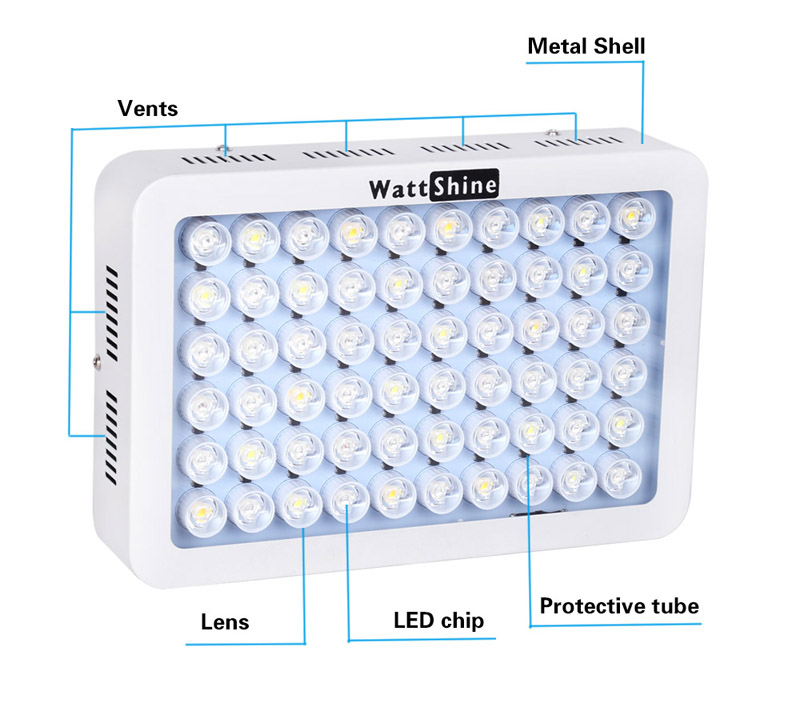 LED Aquarium Light 180W Series Dimmable Full Spectrum For Coral Reef Grow For Plants Fish Tank Aquarium Decorations Include (4)