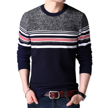 Buy Mens sweaters wool warm pullovers Autumn Winter Tops knitted Long Sleeve Round Neck Male Printed stitching Sweater Clothing 4XL for $8.99 in AliExpress store