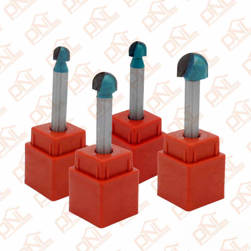 Pack of 4 (1/4,3/8,5/16,1/2) Round Nose Router Bit with 1/4-Inch Shank<br><br>Aliexpress