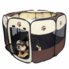 Domestic Delivery Pet Play Pen Puppy Rabbit Cage Folding Run Dog Fence Garden Crate Pet Kennel Outdoor Indoor(China)