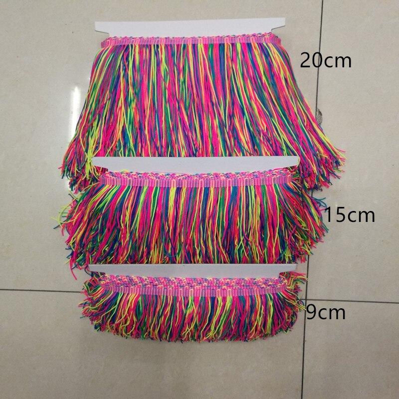 Black rainbow MULTI Feather Collar lace Fringe DANCE COSTUME trim trimming