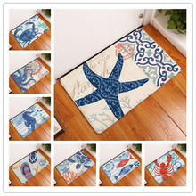 2017 Aquatic Products  Print Carpets Non-slip Kitchen Rugs for Home Living Room Floor Mats 40x60cm