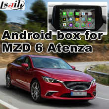 Android 4.4 5.1 GPS navigation box for new Mazda 6 Atenze video interface with cast screen youtube google play(China)