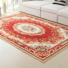 Europe Flower Carpets For Living Room Home Bedroom Rugs And Carpets Soft Polyester Coffee Table Floor Mat Study Room Area Rug