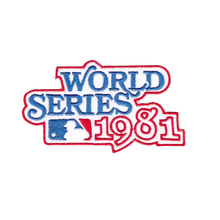 Hot Cut Or Iron On Patch Of 1981 World Series Logo Jersey Patch New York Yankees Los Angeles Dodgers MLB(China)