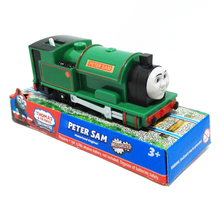 T0222 Electric Thomas and friend Peter sam with one carriage Trackmaster engine Motorized train Chinldren kids toys with package