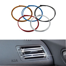 5 Colour 1M U Style DIY Car Interior Air Conditioner Outlet Vent Grille Chrome Decoration Strip car styling