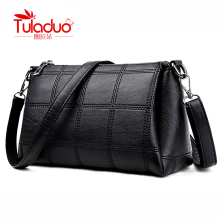 TULADUO Luxury Women Leather Handbag High Quality Designer Women Shoulder Bags Boston Tote Bag Thread Messenger Ladies Hand bags