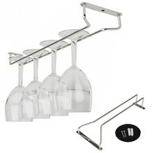 Chrome Plated Wine Champagne Glass Cup Hangers home Bar restaurants  Hanger Enclosed 35cm