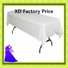 Big discounts!!FREE SHIPPING 10pcs 150*320cm white table cloth rectangle polyester table cloth for hotel wedding banquet