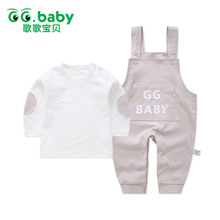 Baby Boys girl outfit set cute infants outfits newborn spring autumn 2017 suspender suit baby kleding long sleeve cotton toddler
