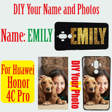 High Quality Soft TPU or Hard PC Cell phone cases For Huawei Honor 4C Pro DIY Custom Name 2D Patterned Cover(China)