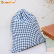 Hcandice Best Gift Hot Selling Grid Plaid Printing Beam Port Storage Bag Cute Hcandice Drawstring Backpack Candy Bags Gift Bag