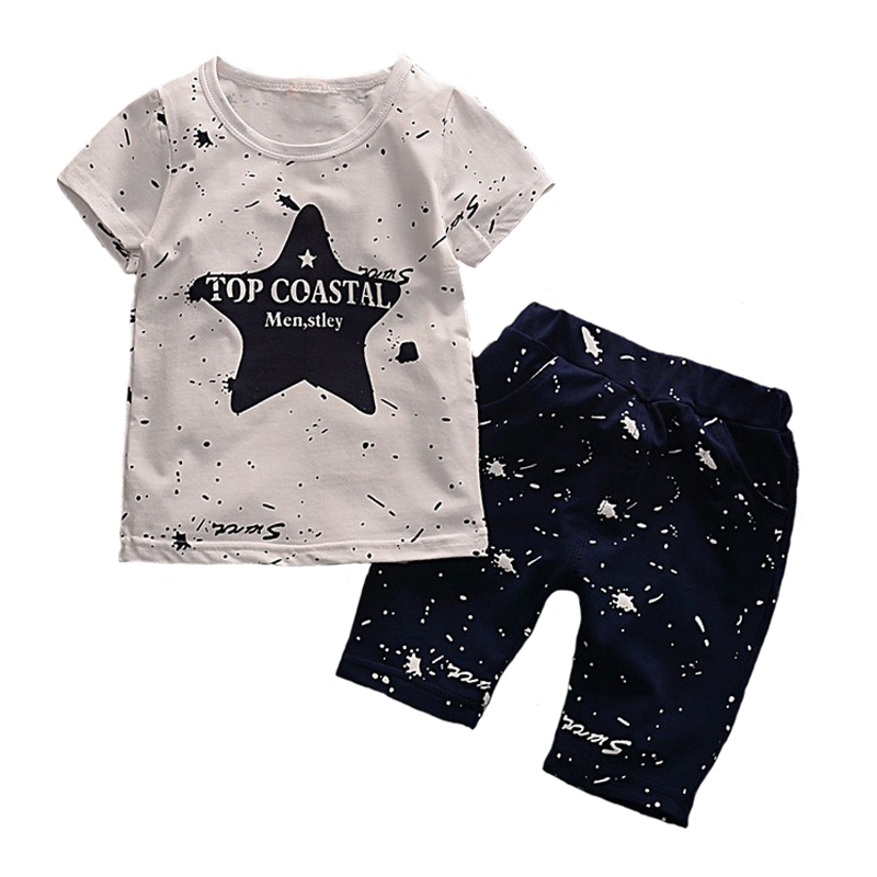 Baby Boy Kid Short Sleeve Star Sportswear Suit T-shirt Top Short Pants Outfits Cloth Set Cloth YYT242<br><br>Aliexpress