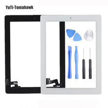 BM Original Tablet Touch Screen for ipad2 iPad 2 A1395 A1396 A1397 Digitizer 9.7 inch Glass Panel with Button + Tools(China)