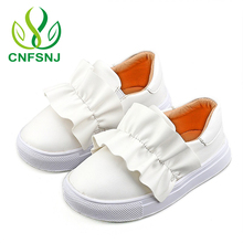 CNFSNJ 2017 Toddler Baby Girl Slip On Sneaker Children Fashion White Sport Trainer Kid Boy Brand Pu Leather Shoe size 21-30