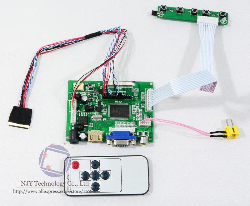 HDMI VGA AV Remote Control LCD Controller board DIY Kit for 10.1 N101N6-L01 LED Screen 10 inch 1024X576 VGA HDMI LVDS converter<br>