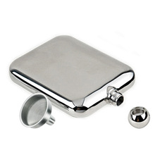 Stainless Steel Hip Flask 6oz/170ml Outdoor Portable Hip Flask Mirror Polished Wine Pot Alcohol Flagon with Funnel