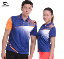 SEA PLANETSP Sportswear sweat Quick Dry breathable badminton shirts , Women/Men table tennis clothes team game running training