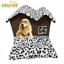 Warm Puppy House Folding Dog Bed with Mat for Small Dog Pet Dog House Kennel Puppy Sofa Cushion Pet Products Supplies 8AH30