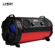 LEORY Professional 15W 2000mAh Bluetooth Speaker Outdoor Portable Subwoofer with Mic Multifunctional Speaker for TV Smartphones