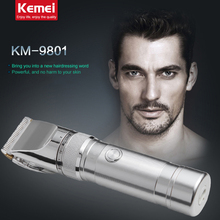 KM9801 kemei rechargeable electric hair clipper razor barber cutting beard trimmer professional hair trimmer shaving machine(China)