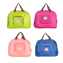 Women Shopping Bag Fashion Grocery Eco-friendly Tote Reusable Portable Candy Color Waterproof Storage Strong Folding Handbag