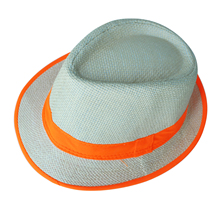 NEW Orange Brim Exquisite Candy Color Belt Decorated Simply Designed Sun Hat For Men and Women
