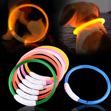 50cm Rechargeable Led Dogs Collars With USB Tube Flashing Light Safety Pet Dog Collar Pet Supplies(Hong Kong)