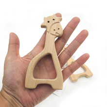 20pcs x DIY Organic beech giraffe teether nursing toy baby bath toy DIY fitting Handcrafted FINDING baby boy gift EA330c(China)