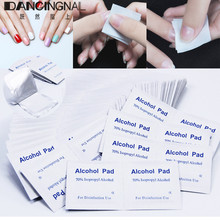 100pcs Disposable Alcohol Cotton Pads Antimicrobial Swabs Nail Cleaner Removal Wipes Lint Paper Sterilization Cleaning Tool(China)