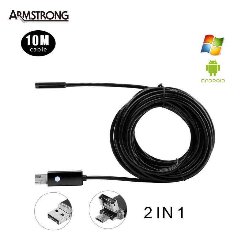 3 Colors 5.5mm Lens 10M USB Endoscope Android OTG Phone Endoscopio 2in1 Mini Endoscope Camera Waterproof Inspection Camera <br><br>Aliexpress