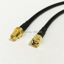 "WIFI Antenna external cable SMA Female Jack Switch RP-SMA Male Plug pigtail RG58 Wholesale Fast Ship 50CM 20""(China)"