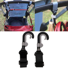 2017 Infant Baby Stroller Hook Holder Pram Double Rotate Hook Pushchair Hanger   2Pcs  APR11_30