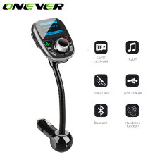 Universal Car MP3 Audio Player Bluetooth FM Transmitter Wireless FM Modulator Car Kit With LCD Display And Remote Controller