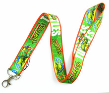 Lot 10Pcs Cartoon Teenage Mutant Ninja Turtles Mobile Cell Phone Lanyard Neck Straps Party Gifts A32(China)
