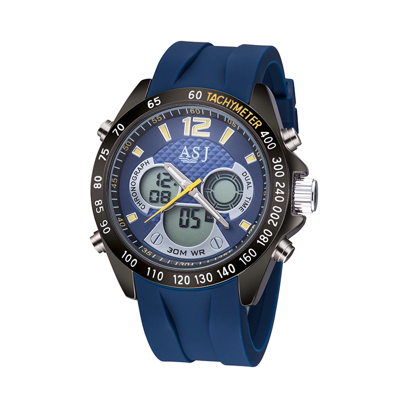 2017 brand business mens multi function watch, The special function of GMT two, 24 hours of instruction, alarm, calendar<br>