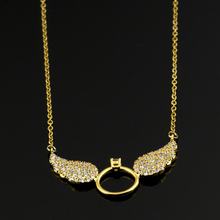 Buy Gold Colour Statement Chain Necklace & Pendant Women Boho Collier Femme Angel Wings Necklace BFF Collane Donna Bridesmaid Gift for $3.40 in AliExpress store