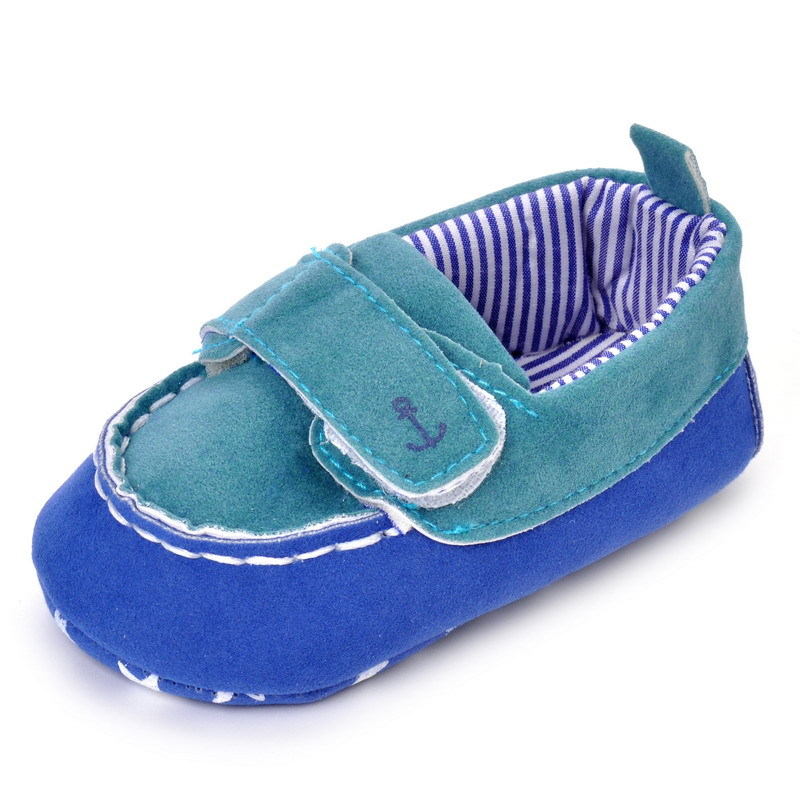 17 Fashion Newborn Baby Girl Boy Shoes Soft Sole Infantil Toddler Baby Boy Sneakers Blue Baby Mocassins Crib Peas Flock Shoes 16