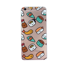 2017 Fashion japan cartoon food sushi rice balls chili sauce shrimp bread soft tpu case For Iphone55sse/6 6s/6plus6splus/7/7plus(China)