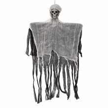 2017 Halloween Scary Props Hanging Skeleton Ghost Decoration Mayitr Party Decor 90x70cm(China)
