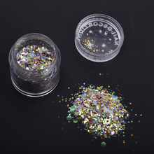 Glitter Powder Color Mixed Bling Plastic Nail Art Nail Glitter Sequins Women Beauty Salon Manicure Nail Decoration Tools M03467(China)