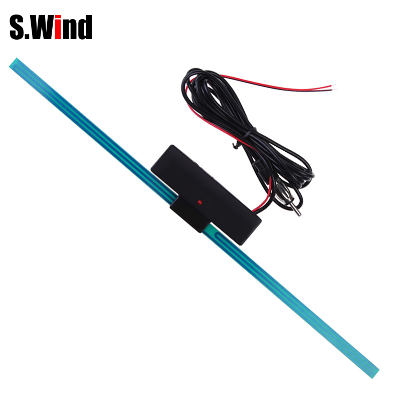 Auto Car Antenna Booster Windshield Mount Car Electronic AM-FM Radio Signal Amplifier Antenna Aerial with Self Adhesive(China)