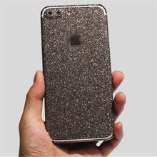 Hot Shiny Foil Film Protector Sticker For Apple Iphone 5 5S SE Matte Diamond Color Back Cover Film Flash Cover 4.0 inch